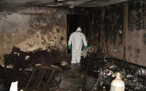 Уборка после пожара в Минске и РБ